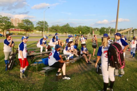 Ottawa Softball Post Game SBW Friday Beer Eh vs Base Invaders Friday July 12